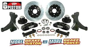 63 70 Chevy C10 Truck 6 Piston Front Drop Spindle Big Disc Brake Kit 5 Lug