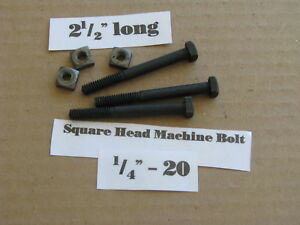 Antique 1 4 20 X 2 1 2 Square Head Bolts Nos Box Of 100 Final Clearance