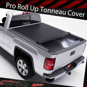 For 2016 2019 Toyota Tacoma 6ft 72 Inch Short Bed Vinyl Roll Up Tonneau Cover