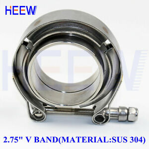 2 75 70mm Stainless V Band Bolt Clamp Flange Turbo Down Pipe Wastegate Exhaust