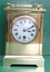 Extra Large Early French Antique 8 Day Carriage Clock Signed Collingwood