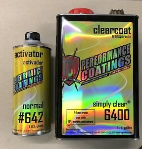 High Gloss Urethane Gallon Clear Coat Kit 4 1 W T Medium Activator