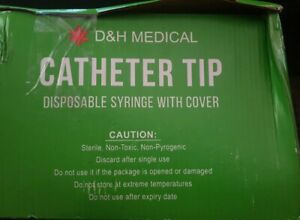D h Medical Catheter Tip Disposable Syringe With Cover 60 Ml 47ct