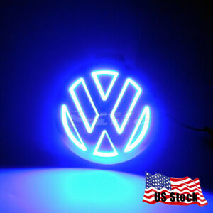 5d Led Car Tail Logo Badge Emblem Light For Volkswagen Vw Golf Cc Tiguan Blue