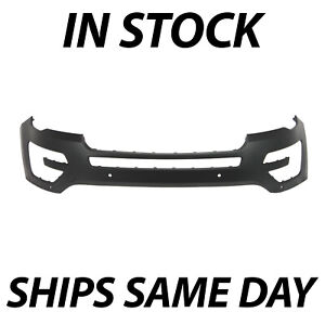 New Primered Front Bumper Cover For 2016 2017 Ford Explorer W Tow Hook