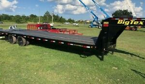 New Big Tex 22gn 8 X 25 Plus 5 Mega Ramps Gooseneck Black Wood 23 900 Gvwr