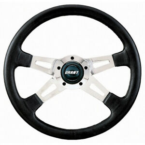 Grant Steering Wheel Collectors Edition 14 4 Spoke Black Leather Aluminum