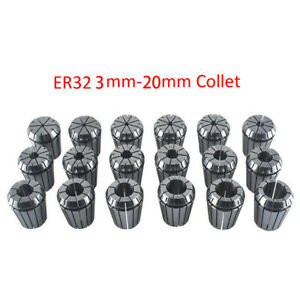 18pcs Er32 3 20mm Metric Spring Collet Set Accurate 0 0003 5um For Cnc Milling