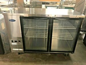 Atosa Mbb59g 58 2 Glass Door Back Bar Cooler Stainless Steel 14030