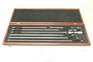 Starrett 823m Inside Micrometer Set 50mm 450mm With Wooden Case a