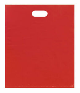 Large Low Density Red Merchandise Bags Case Of 500