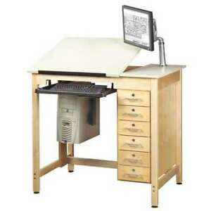 Diversified Woodcrafts Cdtc 71 Drawing Table With Drawers