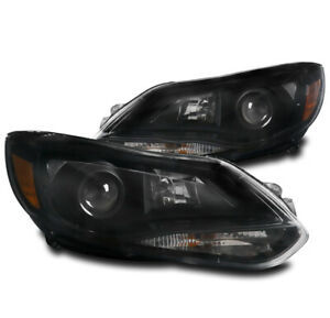 For 2012 2013 2014 Ford Focus Replacement Black Projector Halogen Headlight Lamp