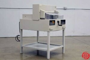 Mbm Ideal Triumph 4850 Commercial Paper Cutter Power Clamp And Cut Safety Guards