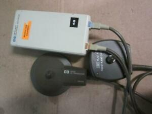 Hp Portable Fetal Monitor 80140a With 15247a Toco And 15242a Us Transducer