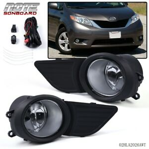 For 2011 2017 Toyota Sienna Clear Lens Driving Bumper Oe Fog Light lamp switch