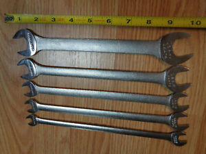 Usa Made Craftsman V Tappet Open End Wrench Set Thin Long Wrenches Sae Inch