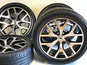 22 Oem Factory Chevy Silverado Ltz Gmc Sierra Wheels Rims Tires Snowflake 5668