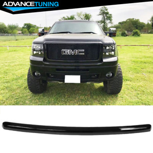 Fits 07 13 Gmc Sierra 1500 Front Hood Guards Molding Gloss Black
