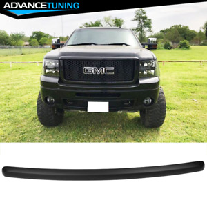 Fits 07 13 Gmc Sierra 1500 Front Hood Guards Molding Matte Black