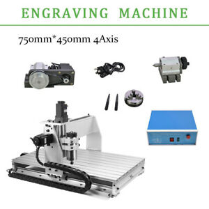 Usb 4 Axis Cnc Router 6040z Engraver Machine Milling drilling Woodworking 0 8kw