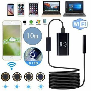 10m 1280p Wifi Endoscope Borescope Inspection Usb Hd Camera Cam For Andriod Ios