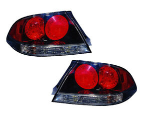 Mitsubishi Lancer 04 07 Altezza Black Tail Lights Lamps Set Pair Performance