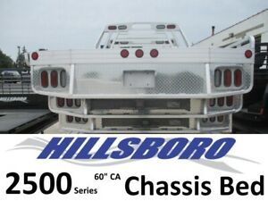 Hillsboro 2500 Aluminum Flatbed Body Ford Chevy Ram Dually Chassis 43683