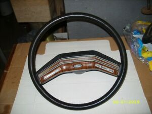 73 86 Ford Truck Steering Wheel F150 Bronco F250 F350 F100 Wood Trim Near Mint