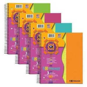 Roaring Spring 13301 12pk Extremes Wire 3 Sub 2 Pocket Notebooks 11 x9 150