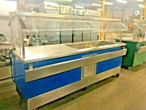 Colorpoint Refrigerated Salad Bar W Dbl Sneeze Guard 13811