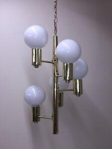 Mid Century 5 Bulb Hanging Light Mod Swag Lamp Light Wired Corded 5 Tier