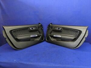 2015 2016 2017 2018 2019 Ford Mustang Gt Leather Interior Door Panel Trim Pair