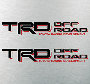 Toyota Tacoma Trd Off Road Decal Sticker Tundra Racing Development 4x4 Sport Bed