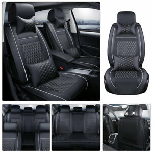 Universal Car Seat Cover 5 Seats Suv Van Pu Leather Cushion Auto Seat Protector