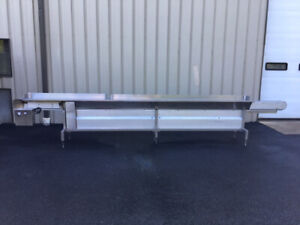 Modular Stainless Steel Packing Table With 4 5 Wide X 210 Long Center Conveyor