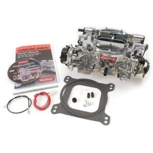 Edelbrock Carburetor 18269 650 Cfm 4 Barrel Vacuum Secondary Silver