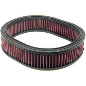 K n Air Filter E 2863 Oval Oiled Cotton Gauze 2 5