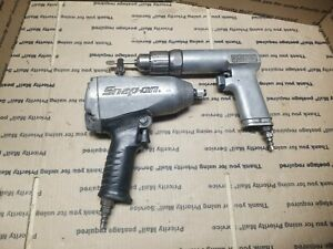 Snap on Pdr5a Pneumatic Drill Im6100 1 2 Air Impact Used Free Shipping