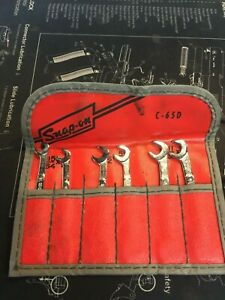 Vintage Snap On Ignition Wrench Set C 65d Open End