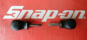 Vintage Snap On Tools Stubby Hard Handle Screwdrivers Ssd1 Ssdp22 Ships Free