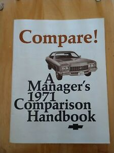 Vintage Chevrolet Product Compare Guide December 70 Chevy Specifications 1971 71