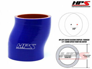 6 Long Hps 2 75 70mm 4 Ply Silicone Intercooler Turbo Offset Coupler Hose Blue