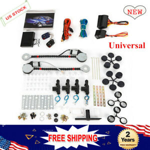 100 Quality12v Electric 2 Power Motor Window Lifter 4 Door Lock Conversion Set