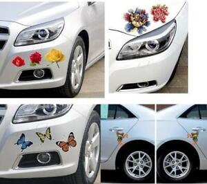 Creative Car Decals Flower Butterfly Decorative Stickers Scratch Stickers