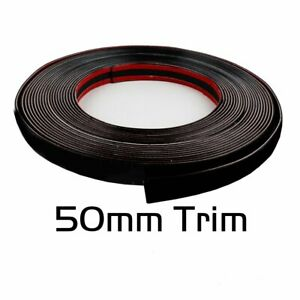 Molding Trim 2 inch Black Car Truck Threshold Front Bumper Trunk Protect 16feet