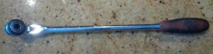 Mac Tools 1 2 Dr 72 Tooth Round Flex Head Long Handle Soft Grip Ratchet Vrr16fpa