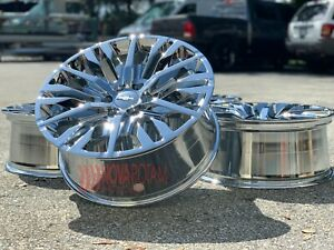 22 Chrome Chevy Silverado Suburban Gmc Sierra Yukon Denali Rims Wheels Escalade