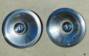 Vintage Hubcaps Set Of 2 Hudson 1930s 1940s 15