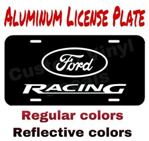 Aluminum License Plate Ford Racing Many Colors Reflective Colors